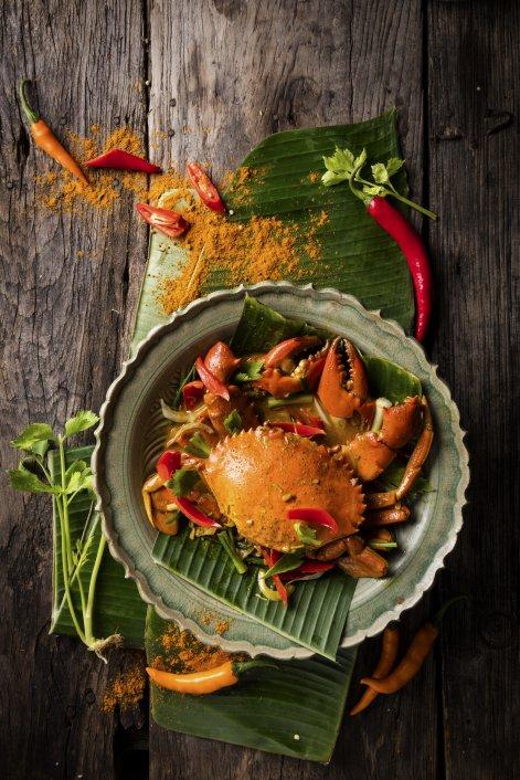 257.Thai Food-Stir Fried Crab in Curry Powder-20171PS