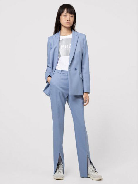 hugo-spodnie-materialowe-herlene-50443888-niebieski-regular-fit