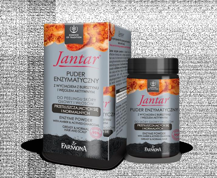 JANTAR_puder enzymatyczny kartonik + buteleczka